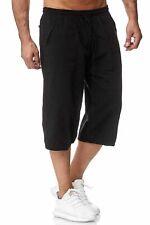 Pantalones cortos de hombre de verano cortos 3/4 Casual Shorts con algodón