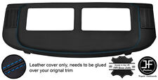 BLUE STITCH REAR PARCEL SHELF REAL LEATHER COVER FOR MERCEDES S CLASS SEC W126