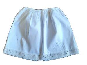 "100% Cotton Black White Mini Underskirt UK 6-20 Waist Half Slip Petticoat 16"""