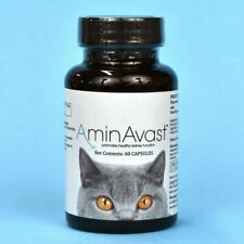 AminAvast Kidney Supplement for Cats 60 Capsules NEW Made in US Biohealth