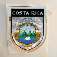 Pegatina Costa Rica Escudo de Armas 3D Grunge Bandera Resina Relieve Adhesivo