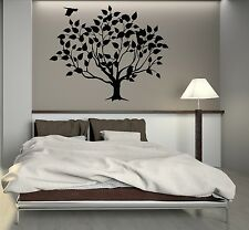 Wall Decal Beautiful Tree Leaves Bird Art Room Decor Vinyl Stickers (ig2842)
