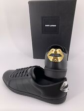 Neu Luxury Original Saint Laurent YSL Damen Leder Sneakers Gr-39,5