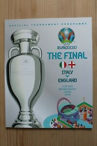 2020 EURO FINAL OFFICIAL PROGRAMME - ENGLAND V ITALY 11th July 2021 (OFFICIAL)