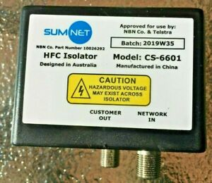 NEW SUMNET HFC Isolator Foxtel and Telstra NBN approved - Free POSTAGE