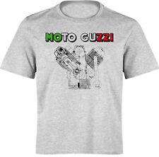 T-Shirt Moto Guzzi Tricolore - MOTO SPEZIAL S bis 3XL - Siebdruck Waschecht
