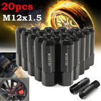 20Pcs Aluminum M12X1.5 60mm Extended Tuner Car Racing Wheels Rims Lug Nuts