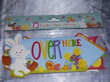 EASTER EGG HUNT ARROWS 15 CARD ARROWS CHICK FIND THE EGGS RABBIT TREASURE HUNT