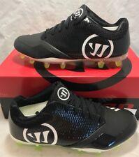 Warrior Mens Size 9.5 Burn 9.0 Lacrosse Lax Cleats Black White Volt Low New