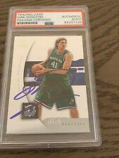 2005 Dirk Nowitzki AUTO SIGNED Autograph Card PSA/DNA NBA Champ FINALS MVP
