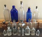 OLD VTG EMBOSSED MEDICAL APOTHECARY PERFUME GLASS BOTTLE SLOAN WATKIN LOT OF 20