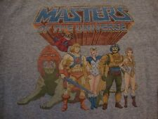 He-Man And The Masters Of The Universe Cartoon Throwback Gray T Shirt Size S