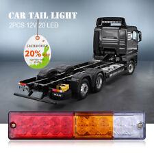 2x 12V Tail Lights Brake Reverse 20LEDs Trailer Truck Boat Stop Indicator Lamp
