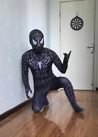 New Design Venom Black Spiderman Costume Suit Tights for Kids or Adult
