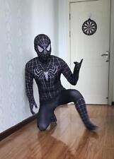 New Design Venom Black Spiderman Costume Tights for Kids or Adult Send Led Mask