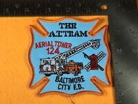 X-67 FIRE DEPARTMENT PATCH - FDNY - BALTIMORE CITY ARIAL TOWER 124 THE A.T. TRAM