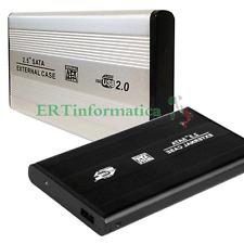 """BOX CASE ESTERNO HARD DISK SLIM 2,5"""" SATA ALLUMINIO USB 2.0 COLORE NERO GRIGIO"""