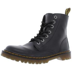Dr. Martens Womens Luana Black Ankle Combat Boots Shoes 9 Medium (B,M) BHFO 1076