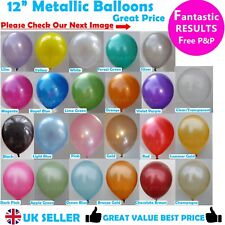 "12"" METALLIC LATEX High Quality Pearlised BALLOONS Party Birthday Decorations"