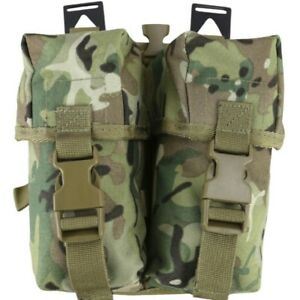 CLEARANCE! PLCE DOUBLE AMMO POUCH MAGAZINE HOLDER WEBBING ARMY MTP BTP CAMO