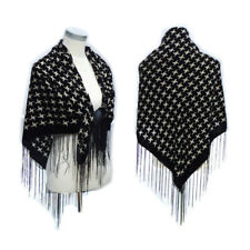 105*105cm Square Velvet Scarf Winter Women Poncho Plaid Bird lady Pashmina Shawl