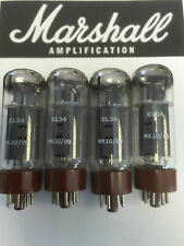 EL34 MARSHALL ORIGINAL SPARE VALVE/TUBE MATCHED QUAD (4PCS)