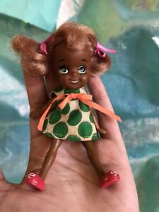 Licca Friend Kuro Mate Coco Chan Doll Black AA Chibiko Tiny Rare Japan Vintage