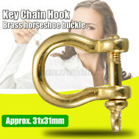 1/3/5PCS Solid Brass Carabiner Shackle Key Ring Chain Hook Buckle Fob Keyring