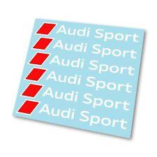 x6 Premium Audi Sport Logo Badge Hi Temp Brake Caliper Stickers Decals