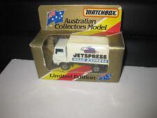 MATCHBOX AUSTRALIAN COLLECTORS MODEL MB72 DELIVERY TRUCK JETSPRESS ROAD EXPRESS