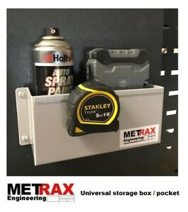 12x Universal Storage Box Pocket - Can, Tape, Tools - Garage,Shed,Van BULK BUY