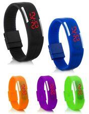 C.D.R Digital Silikon LED Armband Uhr Armbanduhr Watch Herren Damen Kinder Sport