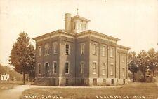 PLAINWELL Michigan US USA postcard RPPC Allegan County High School 1910