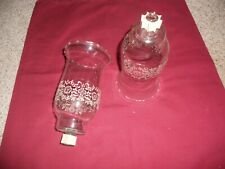 New Listing2 Tall Embossed Parklane Votive Cup Candle Holders Homco Home Interior w/grommet