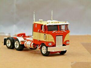 Dcp orange/cream Peterbilt 352 cabover tractor new no box..