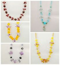Lovely 5 Styles of Lot  Gemstone Bead Glass Bead  Necklace Pendants