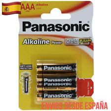 4 Pilas Panasonic Alkaline Power AAA LR3 MN2400 AM4 Batería  Anti-leak
