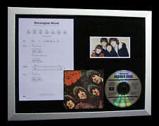 BEATLES Norwegian Wood GALLERY QUALITY MUSIC CD FRAMED DISPLAY+FAST GLOBAL SHIP