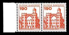 BUND Burgen und Schlösser   190 Pf. **, Mi.  919 - linkes Randpaar