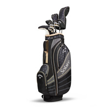 New Callaway Solaire 8 pc Complete Ladies Golf Club set Champagne Cart Bag
