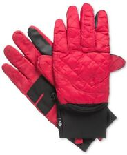 $195 ISOTONER MEN'S RED NYLON WARM TOUCH SCREEN THERMAL WINTER GLOVES SIZE S/M