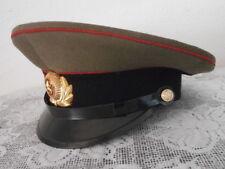 Antigua gorra de plato soldado uso militar ejercito Unión Soviética Rusia URSS
