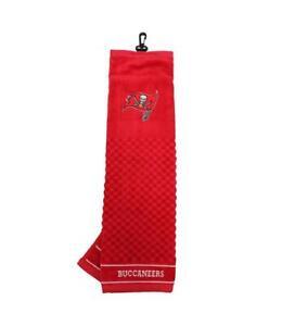 "NFL Tampa Bay Bucs Golf Towel Embroidered Tri-Fold 16"" x 22"" Hook Bag Clip"