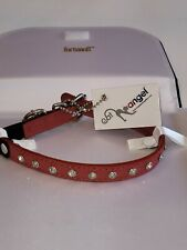 "Angelâ""¢ Athens Valentine Red Leather Rhinestone Cat Collar New with Tags"