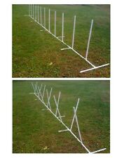12 Weave Poles with Adjustable Angle and Spacing Dog Agility Equipment