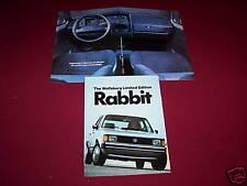 1983, 1984 VOLKSWAGEN WOLFSBURG LE RABBIT BROCHURE, VW