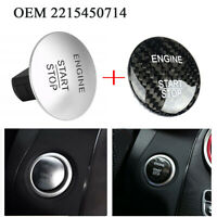 OEM 2215450714 Start Stop Push Button w/ Carbon Fiber Sticker Fits Mercedes Benz