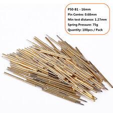 100pcs/Pack Spring Pressure Test Probe Pogo Pin P50-B1 Dia 0.68mm Length 16mm SG