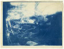 Photo Cyanotype Construction Métalique Effondrement Vers 1890