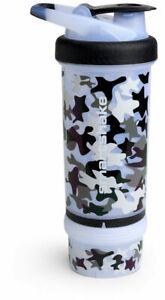 Smart Shake Protein Bottle Mixer Shaker Cup Revive Camo White SmartShake 750ml